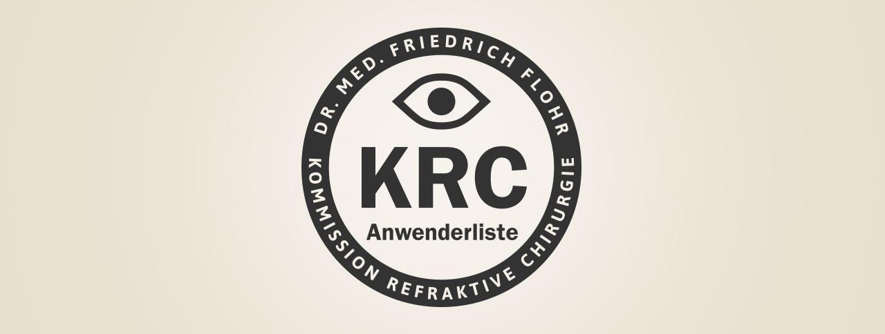 Dr. Flohr: Anwenderliste Kommission Refraktive Chirugie (KRC)